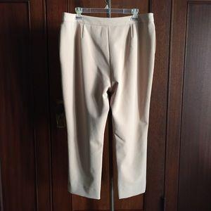 ANTONIO MELANI Pants - Blush cropped career pants stretch